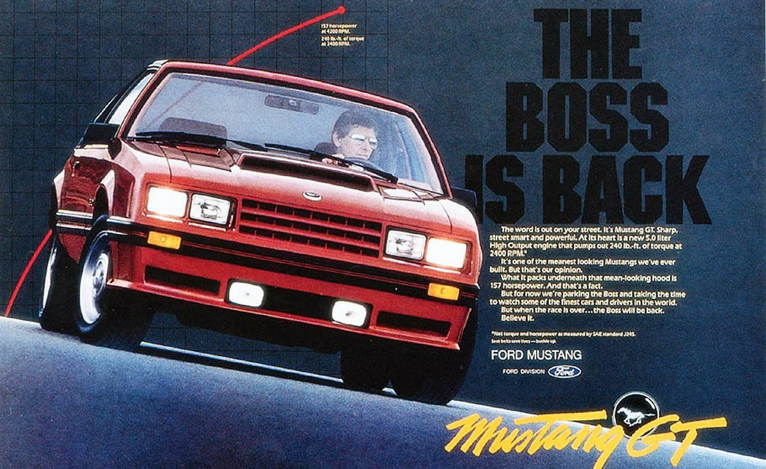 82 Mustang GT - Fox body Ad