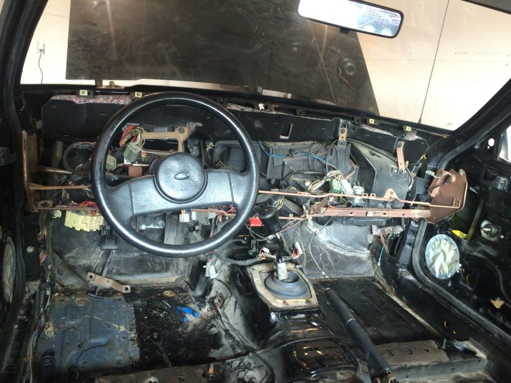 Fox Mustang Interior Restoration - Gutted