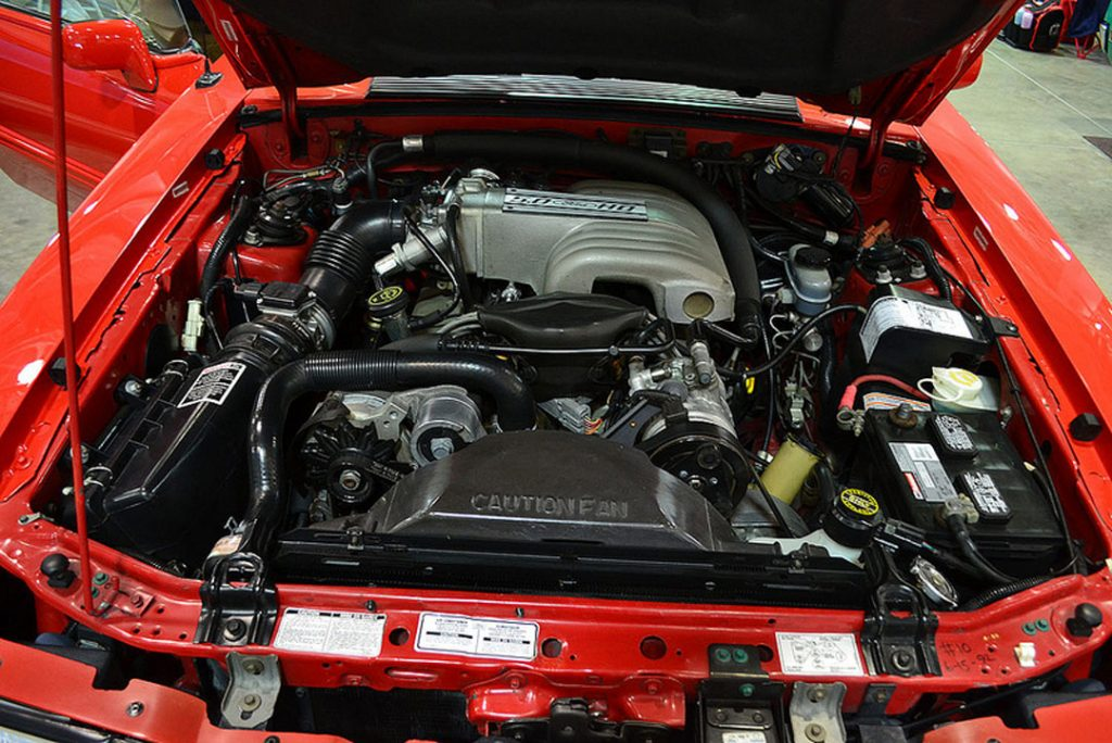 Factory fox Mustang engine bay