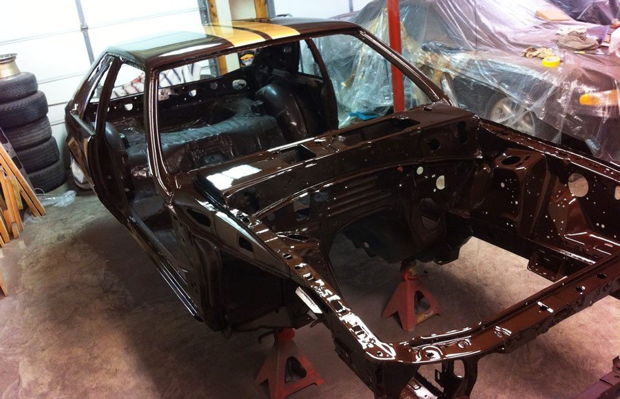 Fox Mustang getting restored - chassis - engine bay