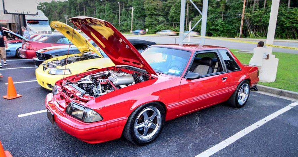 fox Mustang at car show