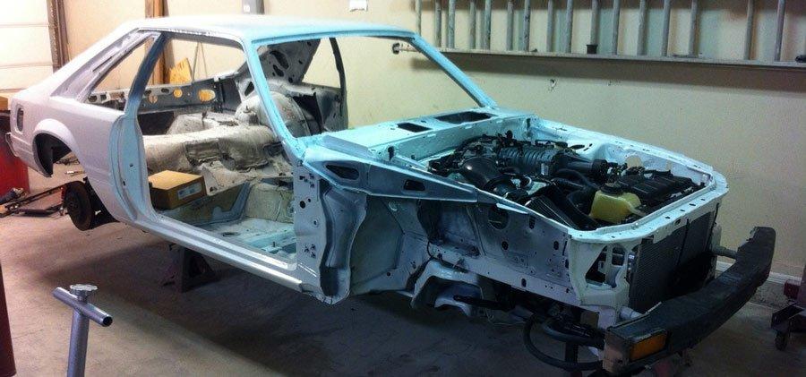 Fox-body restoration - restomod with terminator swap