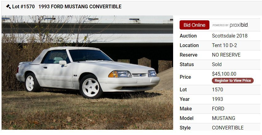 1993 Feature car in triple white with 7,350 miles