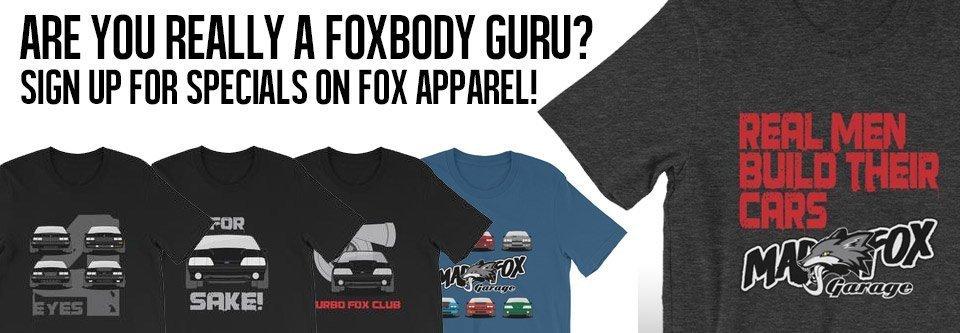 fox mustang swag