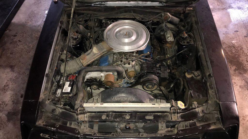 Fox body Mustang engine bay - 4 eyes